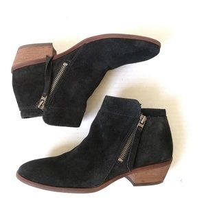 Sam Edelman black suede packer zip up boho